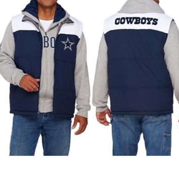 270cd7e007577 NWT Dallas Cowboys Men s XL Reversible puff vest
